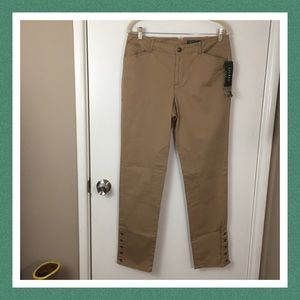 LAUREN RALPH LAUREN RIDING PANTS IN BARLEY SIZE 10